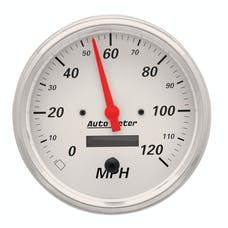 AutoMeter Products 1389 Gauge; Speedometer; 5in.; 120mph; Elec. Prog. w/LCD Odo; Arctic White
