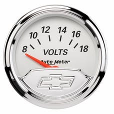 AutoMeter Products 1391-00408 Gauge; Voltmeter; 2 1/16in.; 18V; Elec; Chevrolet Heritage Bowtie