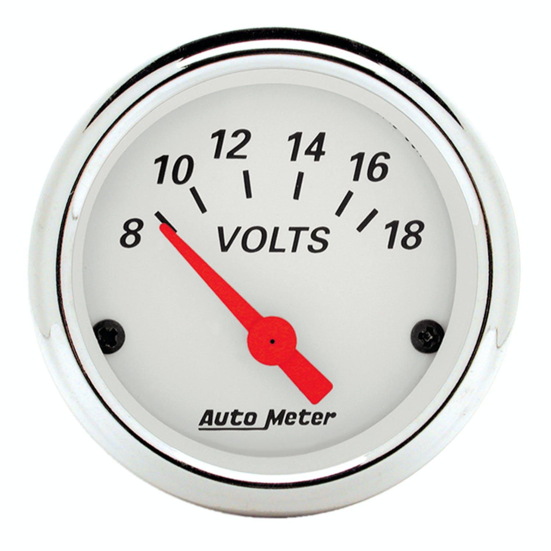 Auto Meter 1313 Arctic White Oil//Fuel Dual Gauge