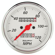 AutoMeter Products 1396 Gauge; Speedometer; 3 1/8in.; 120mph; Mechanical; Arctic White