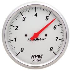 AutoMeter Products 1399 Tach  8 000 Rpm  Arctic White