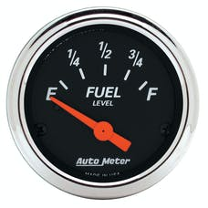 AutoMeter Products 1422 Designer Black Fuel Level Gauge 2-1/16in 0 E/90 F Chrome Bezel
