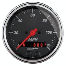 AutoMeter Products 1449 Designer Black Series GPS Speedometer (0-120 mph, 3-3/8 in.)