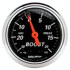 AutoMeter Products 1471 2-1/16in Boost-Vac  30in  HG/ 15 PSI  DB Chrome Bzl