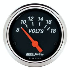 AutoMeter Products 1483 Voltmeter Gauge 2 1/16 in. Chrome Bezel 8 - 18 Volts