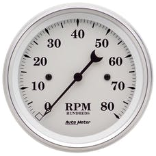 AutoMeter Products 1690 Gauge; Tachometer; 3 3/8in.; 8k RPM; In-Dash; Old Tyme White