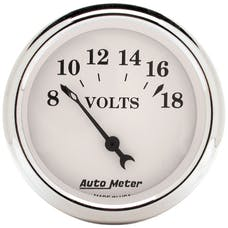 AutoMeter Products 1692 GAUGE; VOLTMETER; 2 1/16in.; 18V; ELEC; OLD TYME WHITE