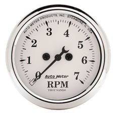 AutoMeter Products 1694 Gauge; Tachometer; 2 1/16in.; 7k RPM; In-Dash; Old Tyme White