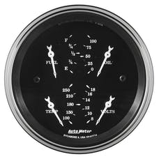 AutoMeter Products 1713 Qual Gauge 3 3/8in  Electric Old Tyme Black