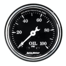 AutoMeter Products 1721 Oil Pressure Gauge 2 1/16in Mechanical Old Tyme Black
