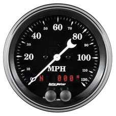 AutoMeter Products 1749 GPS Speedometer Gauge 3 3/8in, 120 mph, Old Tyme Black
