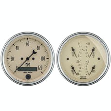 AutoMeter Products 1800 Quad Gauge/Speedo Kit Antique Beige
