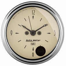 AutoMeter Products 1885 GAUGE; CLOCK; 2 1/16in.; 12HR; ANALOG; ANTIQUE BEIGE