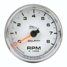 """AutoMeter Products 19307 Tachometer Gauge, White-Pro Cycle 2 5/8"""", 8K RPM, 2&4 Cylinder"""