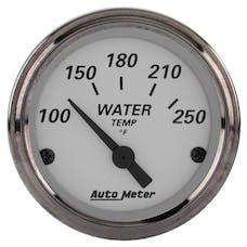 AutoMeter Products 1938 GAUGE; WATER TEMP; 2 1/16in.; 250deg.F; ELEC; AMERICAN PLATINUM
