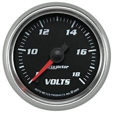 AutoMeter Products 19692 Gauge; Voltmeter; 2 1/16in.; 18V; Digital Stepper Motor; Black; Pro-Cycle