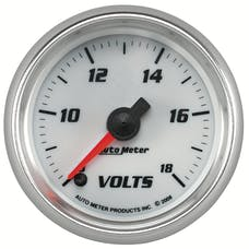 AutoMeter Products 19792 Gauge; Voltmeter; 2 1/16in.; 18V; Digital Stepper Motor; White; Pro-Cycle