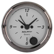 AutoMeter Products 1986 American Platinum Clock 2 1/16 in. Quartz Movement w/Second Hand
