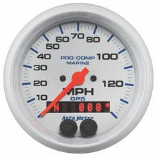 AutoMeter Products 200638 Gauge; Speedometer; 3 3/8in.; 140mph; GPS; Marine White