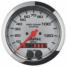 AutoMeter Products 200638-35 Gauge; Speedometer; 3 3/8in.; 140mph; GPS; Marine Chrome