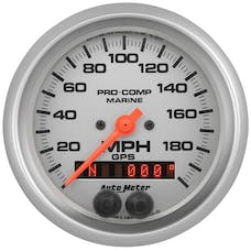 "AutoMeter Products 200639-33 Marine Silver Ultra-Lite Speedometer Gauge 3 3/8"", 200MPH, GPS"