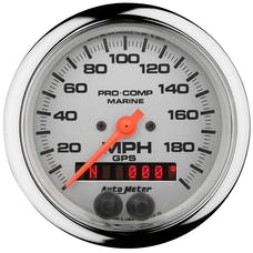 "AutoMeter Products 200639-35 Marine Chrome Ultra-Lite Speedometer Gauge 3 3/8"", 200MPH, GPS"