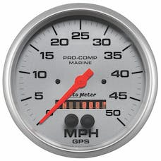 AutoMeter Products 200644-33 Gauge; Speedometer; 5in.; 50mph; GPS; Marine Silver