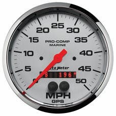 AutoMeter Products 200644-35 Gauge; Speedometer; 5in.; 50mph; GPS; Marine Chrome