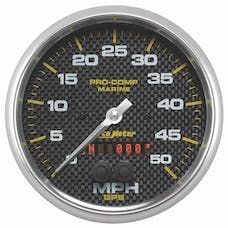 AutoMeter Products 200644-40 Gauge; Speedometer; 5in.; 50mph; GPS; Marine Carbon Fiber