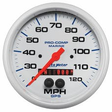 AutoMeter Products 200646 Gauge; Speedometer; 5in.; 120mph; GPS; Marine White