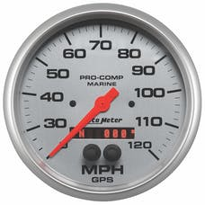 AutoMeter Products 200646-33 Gauge; Speedometer; 5in.; 120mph; GPS; Marine Silver