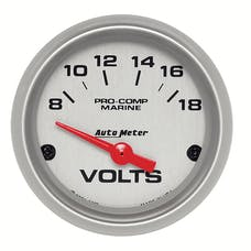 AutoMeter Products 200756-33 Gauge; Voltmeter; 2 1/16in.; 18V; Electric; Marine Silver