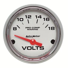 AutoMeter Products 200756-35 Gauge; Voltmeter; 2 1/16in.; 18V; Electric; Marine Chrome