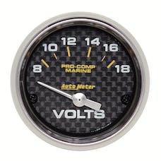 AutoMeter Products 200756-40 Gauge; Voltmeter; 2 1/16in.; 18V; Electric; Marine Carbon Fiber