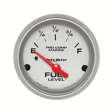 """AutoMeter Products 200760-33 Fuel Level Gauge, Electric-Marine Silver  2 1/16"""", 240-33Ω,"""
