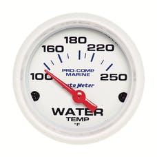 AutoMeter Products 200762 Gauge; Water Temp; 2 1/16in.; 100-250deg.F; Electric; Marine White