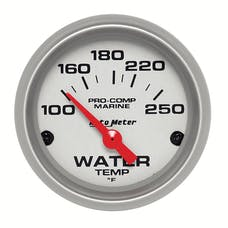 AutoMeter Products 200762-33 Gauge; Water Temp; 2 1/16in.; 100-250deg.F; Electric; Marine Silver