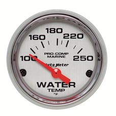 AutoMeter Products 200762-35 Gauge; Water Temp; 2 1/16in.; 100-250deg.F; Electric; Marine Chrome