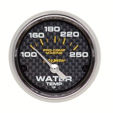 AutoMeter Products 200762-40 Gauge; Water Temp; 2 1/16in.; 100-250deg.F; Electric; Marine Carbon Fiber