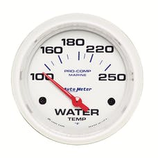 AutoMeter Products 200763 Gauge; Water Temp; 2 5/8in.; 100-250deg.F; Electric; Marine White