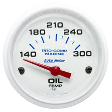 "AutoMeter Products 200764 Oil Temperature Gauge, Electric-Marine White  2 1/16"", 140-300Γö¼ΓòæF"