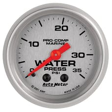 AutoMeter Products 200772-33 Marine Mechanical Water Pressure Gauge