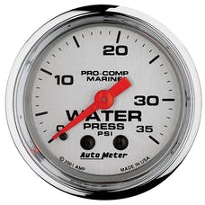 AutoMeter Products 200772-35 Marine Mechanical Water Pressure Gauge