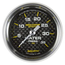 AutoMeter Products 200772-40 Marine Mechanical Water Pressure Gauge