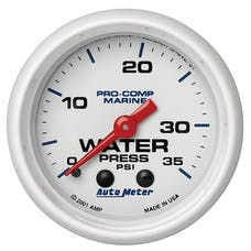 AutoMeter Products 200772 Marine Mechanical Water Pressure Gauge