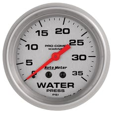 AutoMeter Products 200773-33 Marine Mechanical Water Pressure Gauge