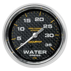AutoMeter Products 200773-40 Marine Mechanical Water Pressure Gauge