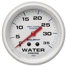 AutoMeter Products 200773 Marine Mechanical Water Pressure Gauge