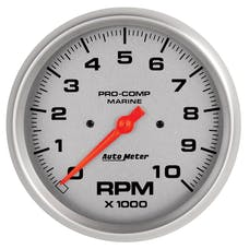 """AutoMeter Products 200801-33 Tachometer Gauge, Marine Silver  5"""", 10,000 RPM"""