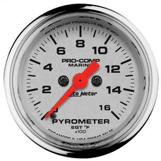 "AutoMeter Products 200842-35 Gauge, Pyrometer, 2 1/16"", 0-1,600Γö¼Γòæf, Marine Chrome"